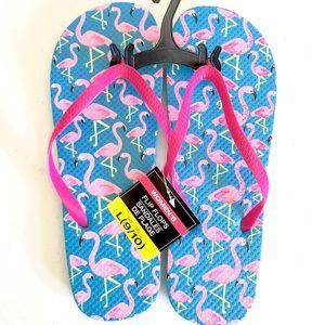 Women's flamingo flip flops 🌴